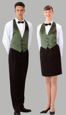 Proper Uniform Of A Waiter In Restaurant Or Hotel
