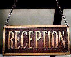 hotel reception desk information