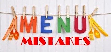 50 Mistakes Menu Design