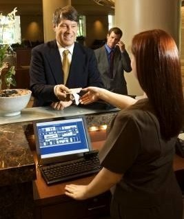hotel front office dialogue conversation