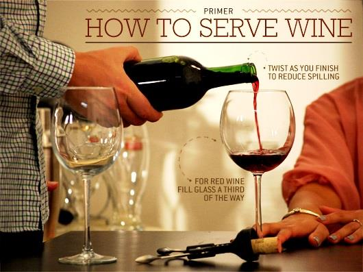 how-pour-serve-red-white-wine